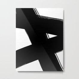 Minimalist Brush Art No. 3 Metal Print