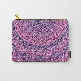 Zen Pink and Purple Mandala Carry-All Pouch