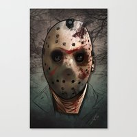 friday Canvas Prints featuring Friday  by Lady Macabre Art