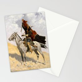 """Frederic Remington Western Art """"The Blanket Signal"""" Stationery Cards"""
