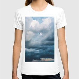 Rain Storm Clouds Gathering On Sky, Stormy Sky, Infinity T-shirt