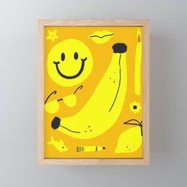 Yellow Framed Mini Art Print