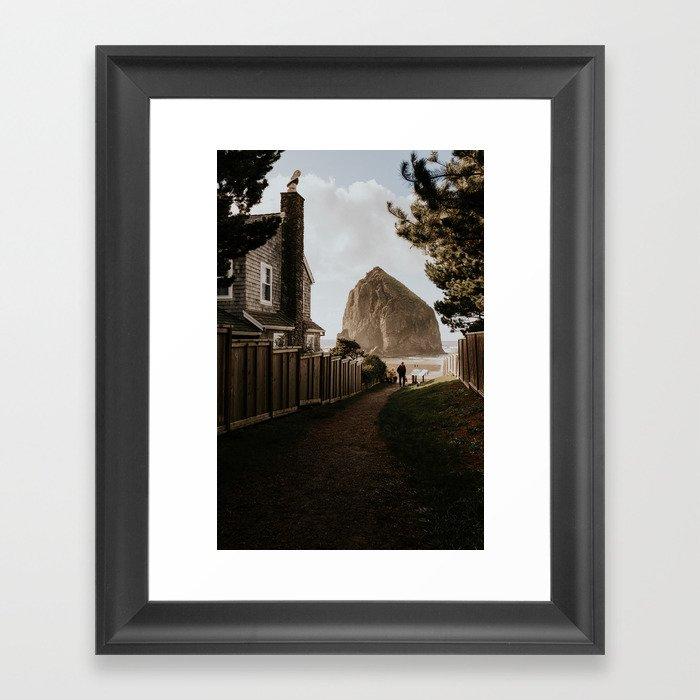 Cozy Cannon Beach, Oregon Framed Art Print