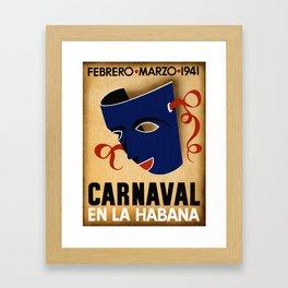 Carnaval en la Habana - Havana Cuba Framed Art Print