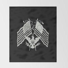 U.S. Flags & Eagle Throw Blanket
