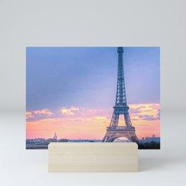 Sunset Eiffel Tower in Paris Mini Art Print
