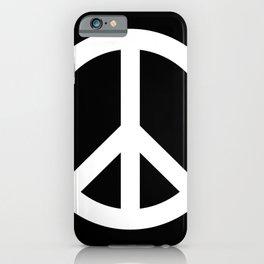 Peace (White & Black) iPhone Case