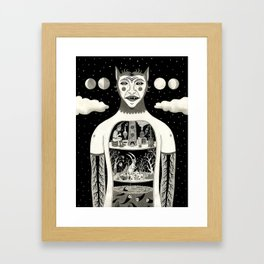 Under Skin Framed Art Print