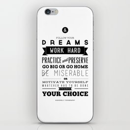 Sincerely Typography iPhone Skin
