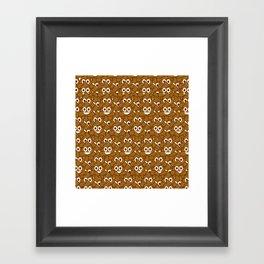 Poop Emoji Framed Art Print