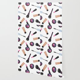 Scattered Makeup Pattern Wallpaper