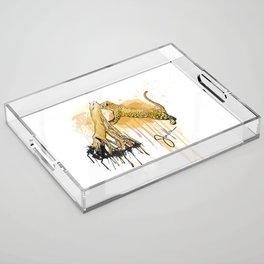 Caipora jaguar Acrylic Tray