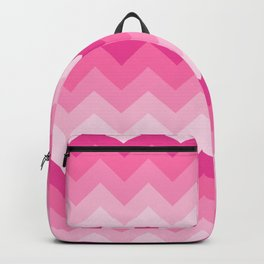 Hot Pink Chevron Ombre Fade Backpack