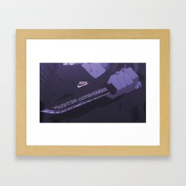 Sad anime aesthetic - Don't mess with me Framed Art Print