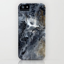 Black Gold & White Abstract Art I iPhone Case
