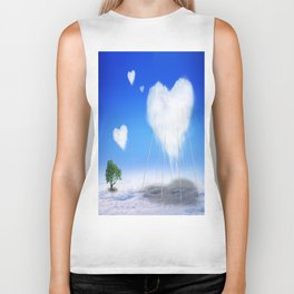 When I feel love, I' d be above the clouds Biker Tank