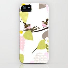 Sweet baby birds iPhone Case