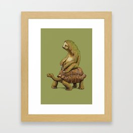 Speed is Relative Framed Art Print