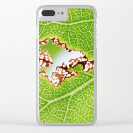 Aspen leaf 1 Clear iPhone Case
