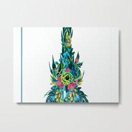 Ukulele Happy Flower Ukulele Metal Print