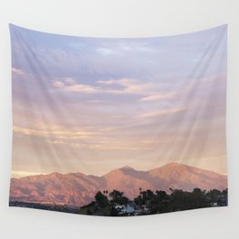 Sunset over Saddleback Mountain Wall Tapestry