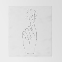 Fingers Crossed Throw Blanket