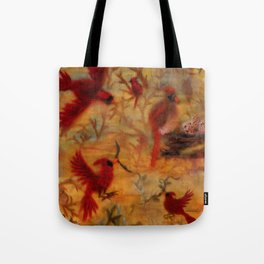 The Cardinal Tree Collage Tote Bag
