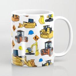 Construction Vehicles Pattern Coffee Mug