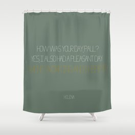 Working and Shopping Shower Curtain