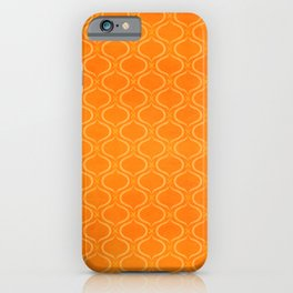 Retro Tangerine Print / Geometric Pattern iPhone Case