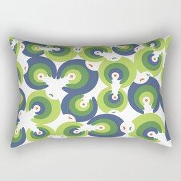 Mano Semilla/Hand Seed--Green Rectangular Pillow