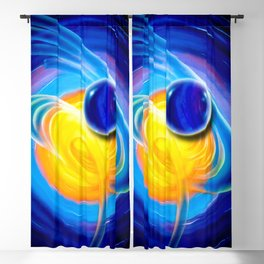 Abstract perfection - Circle Blackout Curtain