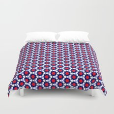 Red & Blue Pattern Duvet Cover