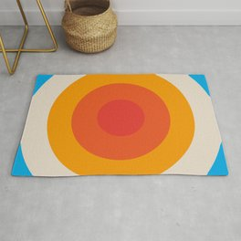Kauai - Classic Colorful Abstract Minimal Retro 70s Style Graphic Design Rug