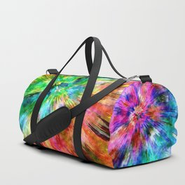 Colorful Tie Dye Starburst Duffle Bag