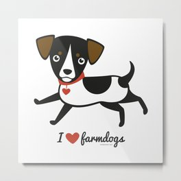 I love farmdogs Metal Print