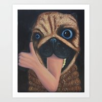 Teddy Says It's Cool Art Print