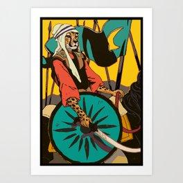 Persian Cheetah Art Print