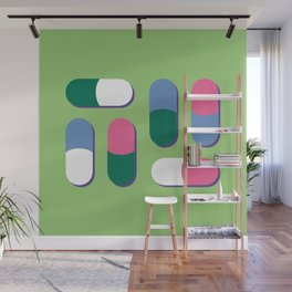Colorful pills Wall Mural