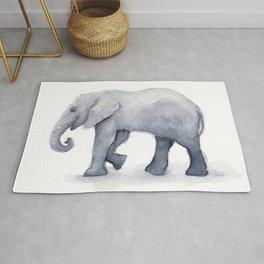 Elephant Watercolor Rug