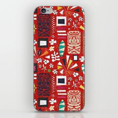 tiki red iPhone Skin