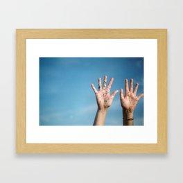 set our spirits free Framed Art Print