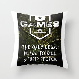 GAMES are a wonderful thing Throw Pillow