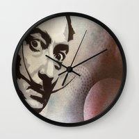 salvador dali Wall Clocks featuring salvador dali by Joedunnz