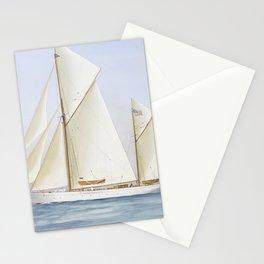 Vintage Racing Ketch Sailboat Illustration (1913) Stationery Cards