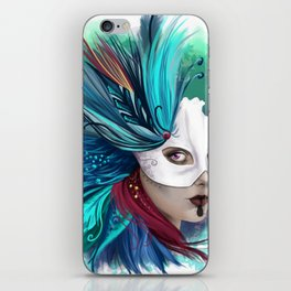 Feathers Mask iPhone Skin