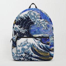 "Hokusai,""The Great Wave off Kanagawa"" + van Gogh,""Starry night"" 2 Backpack"