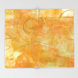 Will it Go Round in Circles, Abstract Art Painting Throw Blanket