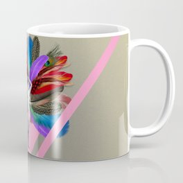 Peacock carnival woman Coffee Mug