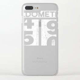Oldometer 49-50 Shirt 50th Birthday Funny Gift Men Women Clear iPhone Case